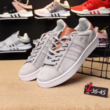 """Adidas"" Unisex Fashion Multicolor Pig Leather Plate Shoes Couple Casual Retro Sneakers"