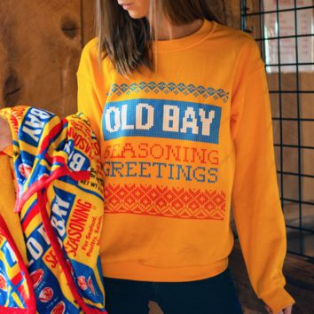 Seasoning Greetings (Gold) / Crew Sweatshirt