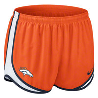 Denver Broncos Women's Orange Nike Dri-Fit NFL Tempo Short