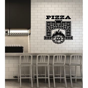 Vinyl Wall Decal Pizza Fireplace Pizzeria Italian Restaurant Decoration Stickers Mural (ig6017)