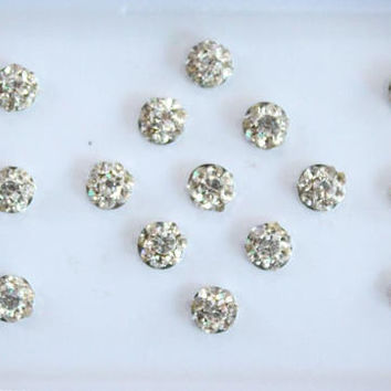 Small Tiny Silver Round Bindis Stickers,Wedding Round Bindis,Stone Bindis,Silver Bindis,India Bindis,Bollywood Bindis,Self Adhesive Stickers