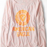 AEO 's Signature Graphic Raglan T-shirt (Neon Orange)