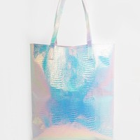 ASOS | ASOS Hologram Shopper Beach Bag at ASOS