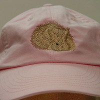 ANGORA BUNNY RABBIT Hat - One Embroidered Wildlife Cap - Price Embroidery Apparel - 24 Color Caps Available