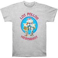 Breaking Bad Men's  Los Pollos Hermanos Slim Fit T-shirt Grey