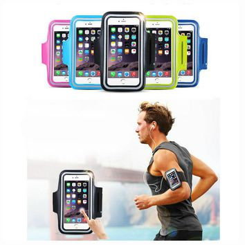 For Moto Motorola G4 G4 Plus G 4th Gen (4.9-5.8'' ) Universal Waterproof Running Arm Band Leather Case Armband Touch Skin