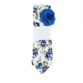 Mantieqingway 6cm Skinny Ties for Men Women Fashion Casual Floral Tie Blue Neckties Wedding Bow Tie Slim Gravatas Accessories