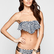Reef Waters Tab Side Bikini Botoms Black/White  In Sizes