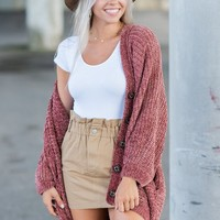 Created Comfort Cardigan, Brick