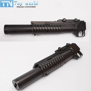 ICIKL3Z M203 Grenade Launcher double barrel crystal bullet launcher adjustable rail ABS currency accessories for water bullet toy gun