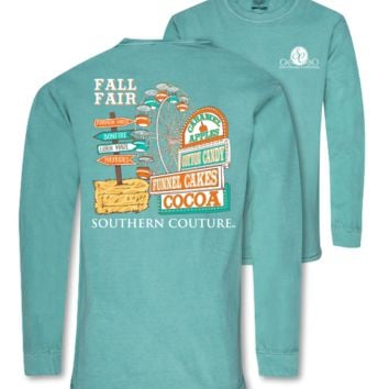 Southern Couture Preppy Fall Fair Comfort Colors Long Sleeve T-Shirt