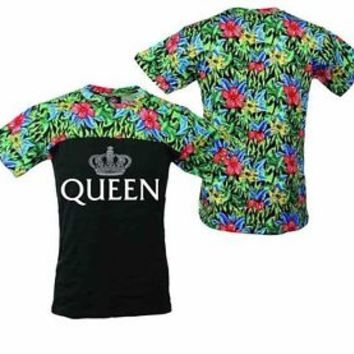 Queen Flowers Women's Tee Shirt Be The Queen Fashion Shirt Clothing