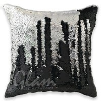 Black & Silver Reversible Sequin Glam Pillow