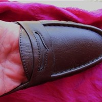 SAS SHOES CLASSIC BROWN LEATHER LOAFERS !SIZE 7M /38!MADE IN USA