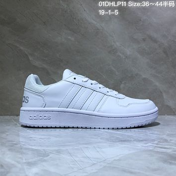 HCXX A528 Adidas NEO Low Leather Casual Skate Shoes White