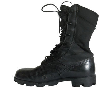 Black Womens Combat Boots - Cr Boot