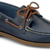 Sperry Top-Sider Authentic Original Cyclone Leather 2-Eye Boat Shoe Blue, Size 11M  Men's Shoes