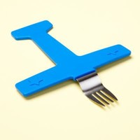 Baby Tableware: Baby Blue Dishwasher-Safe Airplane Fork