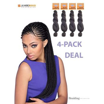 Jumbo Braid 100% Kanekalon Heat Resistant Modacrylic Fiber - ***4 Pack Deal***