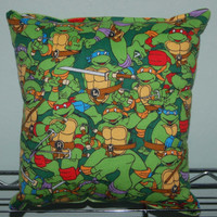 Teenage Mutian Ninja Turtle Pillow TMNT Pillow Grouped HANDMADE Made in USA