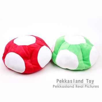 Super Mario party nes switch  Bros Toad Mushroom Cosplay Warm Winter Hat Cap Toy Dolls Christmas Gifts Red / Green AT_80_8