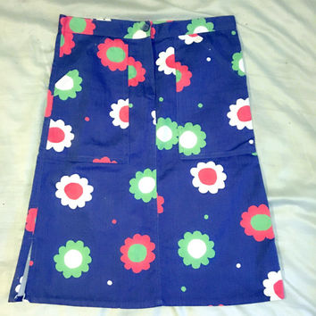 SALE!!!! 25% OFF Kitchy 70s Dark Denim Daisy Skirt