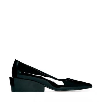 Cheap Monday Black Cat Mid Heel Shoes - Black