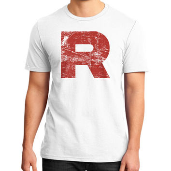 Team Rocket Grunge District T-Shirt (on man)