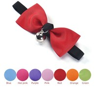 New Adjustable Dog Cat Pet Bow Tie With Bell Puppy Kitten Necktie Collar Levert Dropship pet supplies perros coleira gato EW54