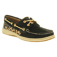 Sperry BLUEFISH BLACK LEOPARD Shoes - Womens Flats Shoes - Office Shoes