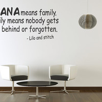 Ohana Means Family Vinyl Wall Quote Sticker Art Wall Lettering Decal Room New