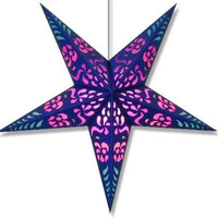 Handmade Paper Purple Punch Star Lantern