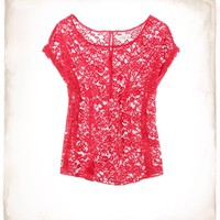 Aerie Lace Peek-A-Boo T | Aerie for American Eagle