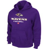 Baltimore Ravens Majestic Critical Victory V Pullover Hoodie – Purple