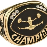 Champion Cheerleading Ring Cheerleading Championship Ring Trophy Ring (10 Sizes)