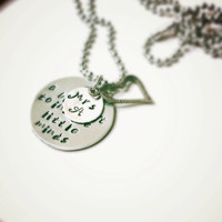 FREE SHIP EASTER Sale!Teacher Gift- Personalized Necklace or Keychain