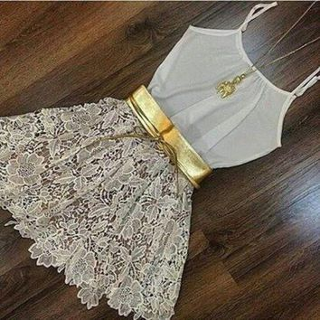 HOT LACE CUTE DRESS