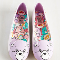 Face Your Cheers Flat in Lavender   Mod Retro Vintage Flats   ModCloth.com