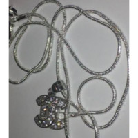 Pure Silver Iced Chanel Necklace