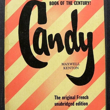 Vintage 1960s Pulp Fiction Novel / I Want Candy / Maxwell Kenton / Vintage Book / 60s Paperback / Suspense Thriller