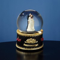 Phantom of the Opera Phantom and Christine Rotating Water Globe
