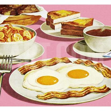 Full Breakfast Art Print by Pop Ink - CSA Images at Art.com