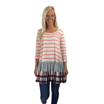Charleston Stripes in Coral