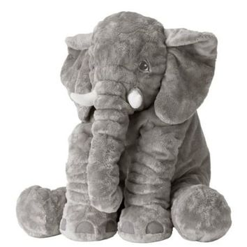 "Ikea BIG 24"" Gray Elephant Stuffed Animal Soft Toy NEW Jungle Grey Safari Circus"