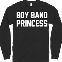 boy band princess-Unisex Black T-Shirt