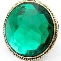 # Free Shipping # Green Precious Stone Vintage Rings HSP39476 from ViwaFashion