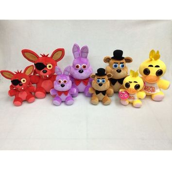 Christmas Toy Gift  At Stuffed Toys 12inch Red Fox Purple Rabbit Brown Bear Yellow Chicken Model Plush Doll