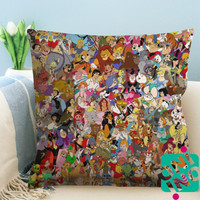 All Disney Characters Zippered Pillow Case, Cushion Case, Pillow case
