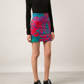 Vivienne Westwood Anglomania / Abstract Print Pencil Skirt