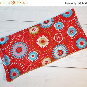 Sale - Red medallion lavender Aromatherapy Eye Pillow - pillow - aromatherapy floral